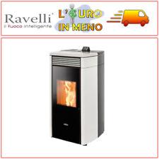 STUFA A PELLET VENTILATA RAVELLI HRV 120 TERMO STUFE 15 KW COLORE BIANCO