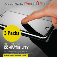 """3 Pack 3D Touch Tempered Glass Screen Protector For Apple iPhone 7 Plus (5.5"""")"""
