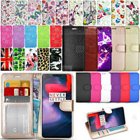 Case For OnePlus 6 A6000 - Trendy Card Slots Wallet Leather Cover + Screen Guard