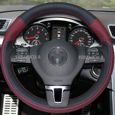 Steering Wheel Cover Wrap for Volkswagen Passat Tiguan VW Jetta Gof CC Eos 09-14