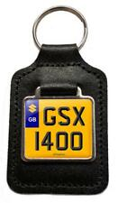GSX 1400 Reg Number Plate Leather Keyring Gift for Suzuki GSX1400 Owners NOS