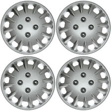 "4 Piece Set SILVER /LACQUER Hub Caps FITS 13"" Inch Steel Wheel Covers Cap Cover"
