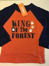 """*NWT GYMBOREE* Boys S'MORE STYLE """"King Of The Forest"""" Orange Tee Shirt 18-24M"""