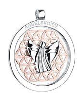 Colgante Ángel der selbstfindung de la guarda con flor vida ANGEL PLATA