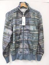 Men's ADIDAS x JEREMY SCOTT Blue Denim Print Zip Up Track Jacket New Small - C78