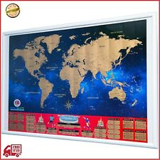 World Cup 2018 Scratch Off Map - Brackets Poster Soccer Wall Chart - Travel map