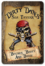 PERSONALIZED PIRATE BOOTY TAVERN METAL GARAGE SIGN