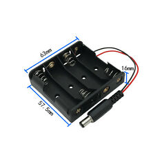 Four 4 Cell Aa Battery Holder Battery Box Battery Case
