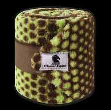 Chocolate Lime Dots Classic Equine Tack Horse Polo Leg Wraps Set of Four W14cld