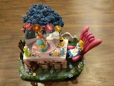 """Rare Disney Alice In Wonderland """"Golden Afternoon"""" Musical Lite Up Snow Globe"""