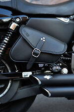 LEATHER SADDLE BAG RIGHT FOR HARLEY DAVIDSON SPORTSTER IRON,48 ,72 MADE IN ITALY