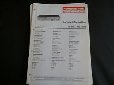 Original Service Manual Nordmende TU 980