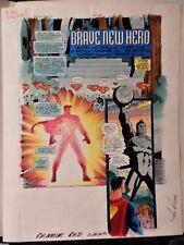 SUPERMAN IN ACTION #1M PG 1 SPLASH COLORGUIDE PRODUCTION ART-SIGNED BY JOE ROSAS