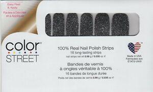 Color Street Nail Strips Mind Matters Gray Glitter 100% Nail Polish-USA Made!