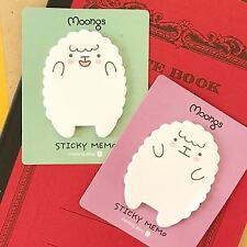 Set of TWO: Kawaii Moongs Sheep Sticky Notes // Two Cute Japanese Korean Easter