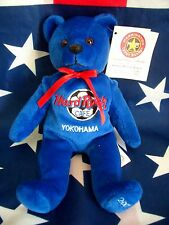 HRC Hard Rock Cafe Yokohama Soccer 2002 Bear Blue LE   8`` Herrington