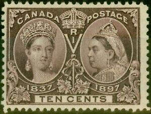 Canada 1897 10c Purple SG131 Fine Mtd Mint Stamp