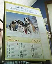 calendrier 2011 - service de nettoiement illustré animaux/nature