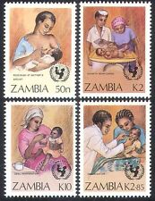Zambia 1988 UNICEF/Children/Breast Feeding/Immunization/Nurse/Medical 4v n39874