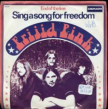 7inch FRIJID PINK sing a song for freedom HOLLAND 1970 +PS EX/VG+