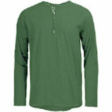Hause of Howe New Day Heather Long Sleeve Henley Knit (M) Cokebottle Green