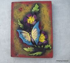 Butterfly Floral Metal Wall Sculpture Indoors or Garden Patio Mom Cave Cafe Art