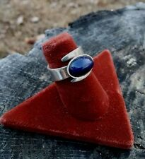 Sterling Silver .925/Blue Lapis Ring- Adjustable -Signed David Andersen Norway!