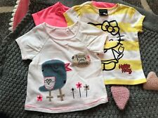 Baby Girls 3 Summer Short Sleeved hello Kitty Tops 9 - 12 mths Immaculate