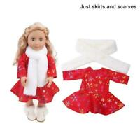 Fashion Christmas Suit For 18 inch Girl Doll Clothes Kit Y4I2