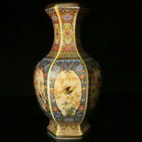 Handmade Exquisite Cloisonne Enamel Flowers & Birdse Porcelain Vase