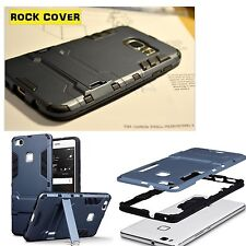 Original Huawei P9 Lite Cubierta Resistente Tech 2 supervivencia espacio de rock industrial azul