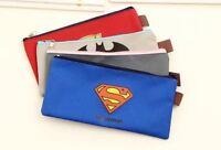 Student Boy Pencil Case Batman Superman Captain America Zipper Simple Pouch Bag