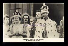 r3481 - King George VI & Queen Elizabeth in their Coronation Robes - postcard
