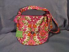 Vera Bradley Retired 2014 Lilli Bell Pattern Saddle Hipster Handbag Purse NWT's