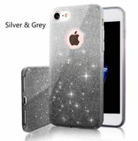 Bling Glitter Hybrid Rubber Protective Hard Case Cover for iPhone 6 7 Plus S8 S9