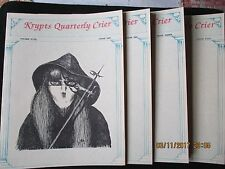 Krypts Quarterly Crier; Yr 5, Volume5, loose issues