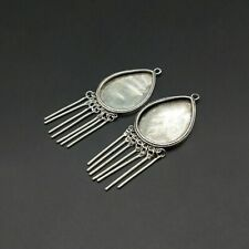 Diy embedded tassels earring 1pair Tribal accessory Chinese handmade miao silver