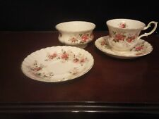 FOUR PIECES OF ROYAL ALBERT, LAVENDER ROSE.A CUP TWO SAUCERS AND A SUGAR BOWL