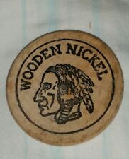 Vtg 1978 Wooden Nickel 12th Annual Redwood Empire  Coin Show Eureka Ca