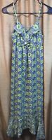 I Heart Ronson Maxi Dress Size Small Grey Yellow