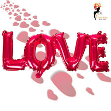 Valentines Inflatable Love Foil Balloon Red Text Letter Party Dinner Decoration