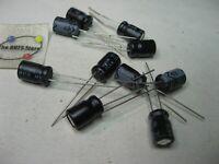 Electrolytic Capacitor Nichicon 100uF 25V 85C Radial - NOS Qty 10