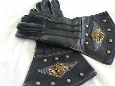 Men's Vintage Harley Davidson Leather Gloves (L) Gants vintage Harley Davidson