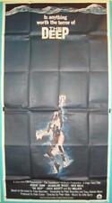 ROBERT SHAW OF JAWS FAME TAKES ON THE DEEP ORIGINAL VINTAGE 3 SHEET FILM POSTER