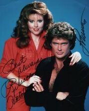 DAVID HASSELHOFF & REBECCA HOLDEN signed autographed KNIGHT RIDER photo