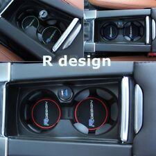 for Volvo Red R design Car Cup Holder Mats XC60 V50 V70 S60 S80 XC70 V60 V40 C30