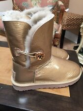 Pretty Ugg Australia Women's Bailey Button Mirage Gold Boots Size 7New!