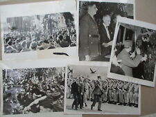 LOT OF 5 INTERNATIONAL NEWS PRESS PHOTOS - CHARLES DE GAULLE 1946-1966 CLIPPINGS