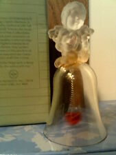 Vtg 1991 Avon Love Crystal Bell (24% Lead) -Cupid/Cherub -Nib-Free Shipping