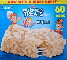 60 x KELLOGG'S  Rice Krispies Treats Marshmallow Squares  1320 gr - Original USA